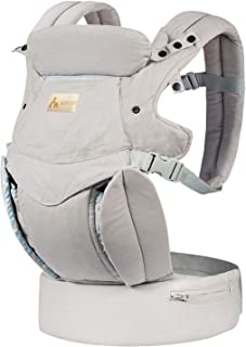 KONPAYDE Baby Carrier with Windproof Cap, Bite Towel, flip 4-in-1 Convertible Carrier, Soft & Breathable Cotton, Babies and Toddlers, Grey