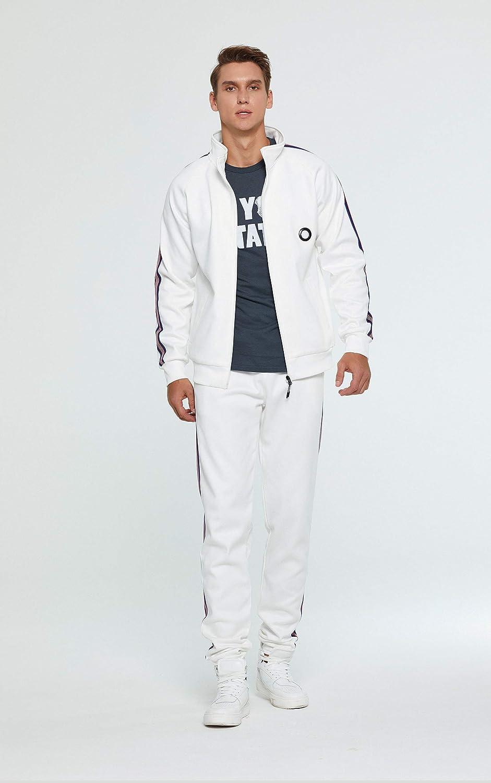 Aeneontrue Men's Casual Tracksuit 2 Piece Sweatsuit Jogging Fitness Athletic Sports Set