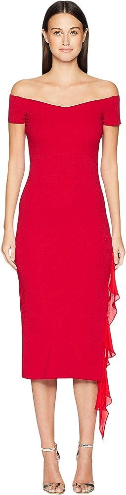 Structured Heavy Jersey off Shoulder Dress