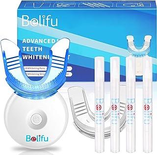 Belifu Teeth Whitening Kit with LED Light, Teeth Whiten Gel Pen and Strips, Non-Sensitive Tooth Whitener, Professional Tee...