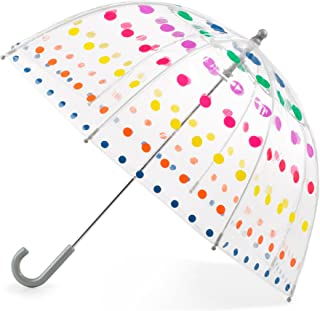 Kid's Clear Bubble Umbrella with Easy Grip Handle, Dots