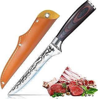 Couteau à Poisson Professionnel Couteau à Filet 15cm Super Tranchant Couteaux à filet Couteau à Fileter Couteau à Désosser...