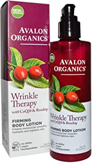 Avalon Organics Wrinkle Therapy with CoQ10 & Rose- hip Firming Body Lotion, 8 Ounce(pack of 3)