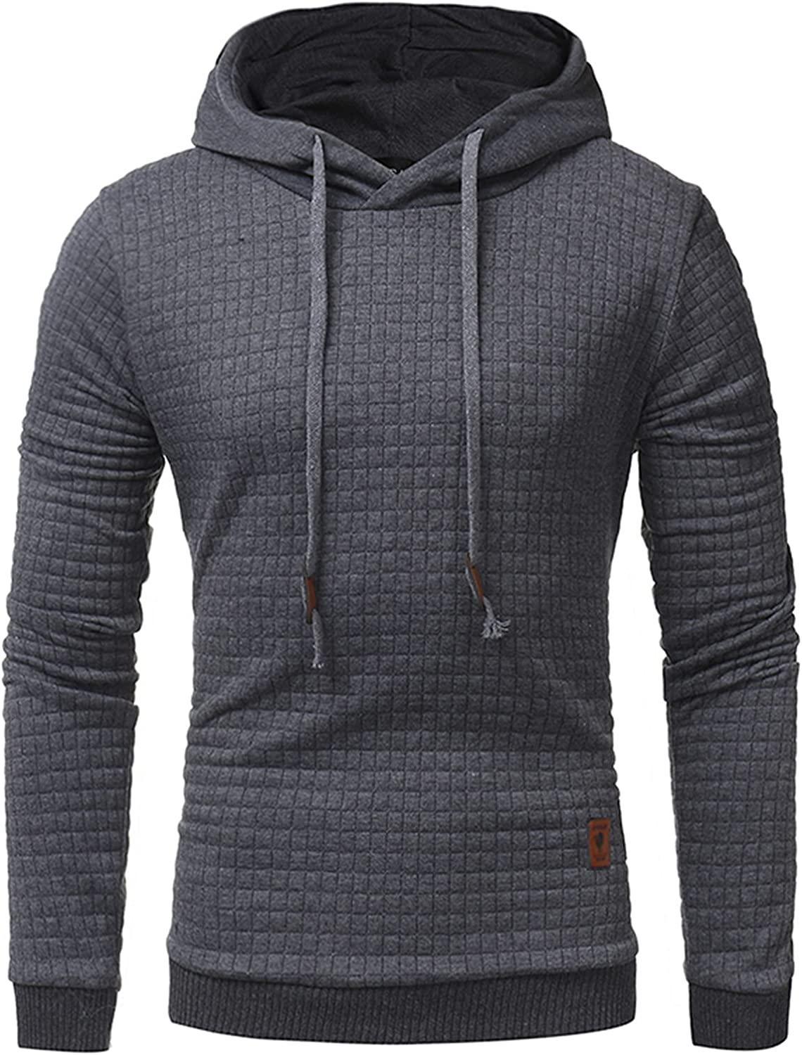 Huangse Casual Long Sleeve Hoodies Pullover for Men Drawstring Hooded T-Shirts Lightweight Workout Hoodie Tops