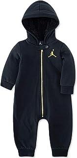 بدلة رياضية بقلنسوة من Jordan Air Coverall (مقاس 3 أشهر، أسود)
