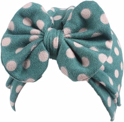 8a768a7d355 Qhome Baby Girls Vintage Big Bow Stretch Turban Girl Bow Beanie Cap  Headbands 18 Colors
