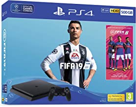 Playstation4 Slim Console, Fifa 19, Zwart (Ps4) [Geïmporteerd uit het VK]