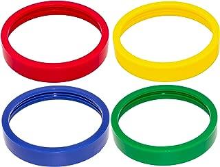 Blendin 4 Pack Colored Lip Rings, Compatible with Original Magic Bullet Blender Juicer 250W MB1001