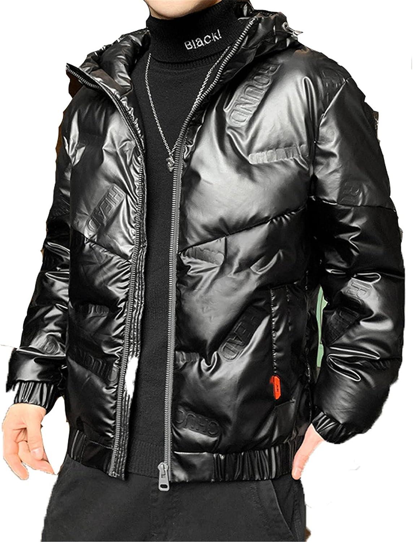 Men's Winter Down Jacket Hooded Parka, Thick Coat Warm Outerwear Windproof Parka Puffer Jacket