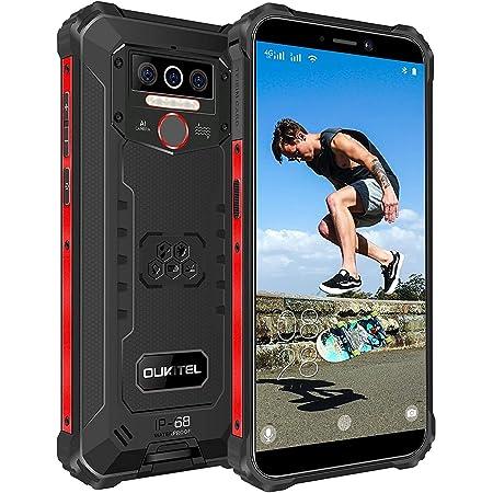 Móvil Libre Resistente OUKITEL WP5 Pro 4GB+ 64GB,8000mAh Batería Android 10 Smartphone IP68 Robusto,Dual Sim 4G Impermeable Rugged Telefono Movil,5.5'' HD+,Triple Cámara,4 LED Flash Móvil Negro
