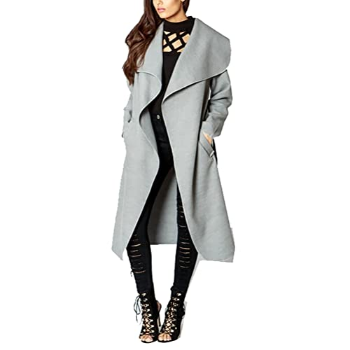 3f80f64d449 Simply Chic Outlet New Womens Longline Waterfall Collar Belted Duster Coat  Jacket Plus Size