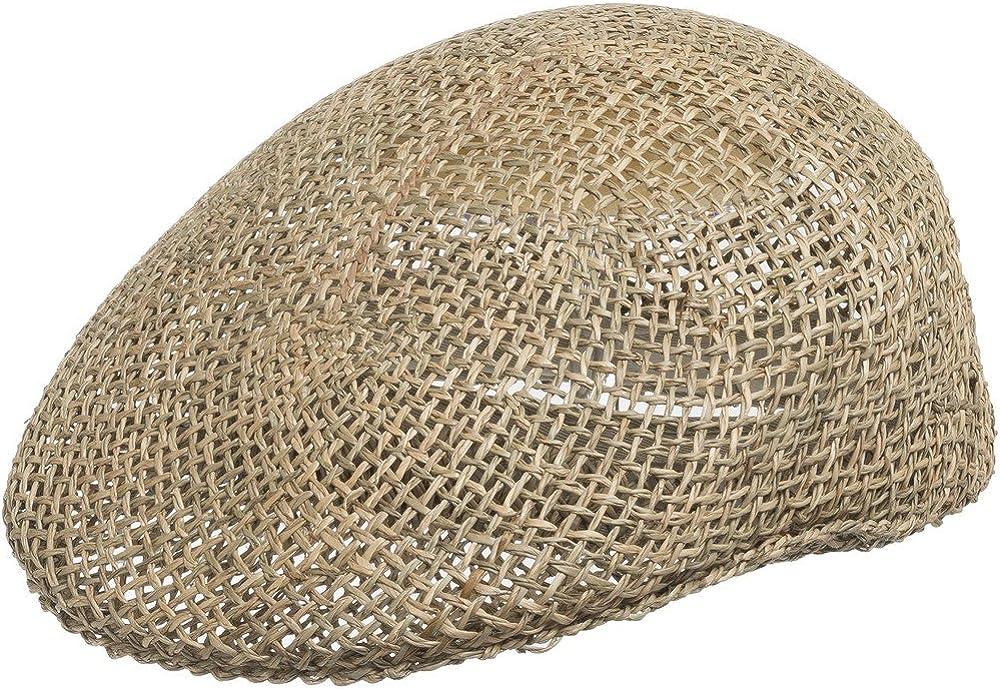 ULTRAFINO Ascot Golf Vented Classic Panama Department store Cap Dress Hat Straw