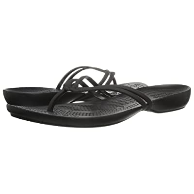 Crocs Isabella Flip (Black/Black) Women