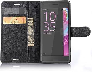GARITANE Funda para Sony Xperia X/F5121 F5122 Cartera Fundas de PU Cuero Wallet Flip Case Cuero Cover Carcasa con función de Soporte para Sony Xperia X/F5121 F5122 (Negro)