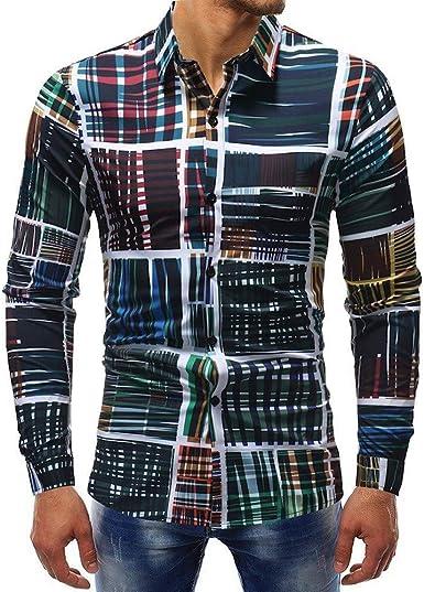 Camisas Entalladas para Hombre De Ropa Camisa Festiva Impresa ...