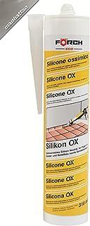 FÖRCH silicona Ox gris–Manhattan 310ml cartucho para ventana verglasung, juntas de silicona en baño, ducha, sanitaria, Exterior–hitzbeständig, dauerelastische Juntas