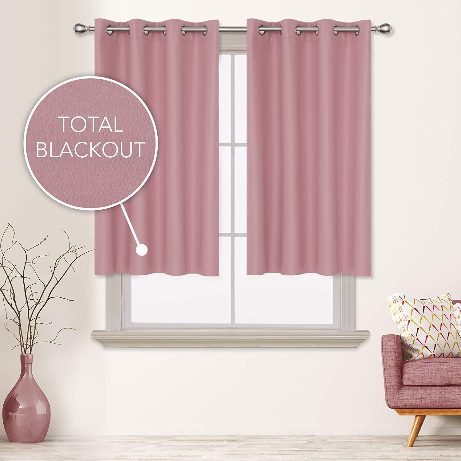 Deconovo Total sold out Choice Blackout Curtains Composited Gr Thermal Insulated
