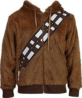 Unisex Adult Furry Hoodie Fur Jacket Halloween Cosplay Zipper Costume Sweatshirt