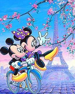 Dessin Animé Mignon Mickey Minnie Cadeau Diamant Peinture Point De Croix 5D Diy Diamant Broderie Complète Foret Mosaïque D...