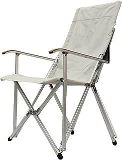 ogawa(オガワ) 折りたたみ椅子 ハイバックチェア コットン ライトグレー 1908