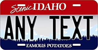 Top Craft Case Custom Personalized Idaho State License Plate Any Text or Name Novelty Auto Car Tag