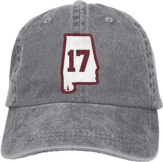 Alabama 17 Crimson Adjustable Baseball Cap, Adult