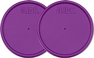 iLIDS Mason Jar Storage Lid, Regular Mouth, Mulberry, Pack of 2