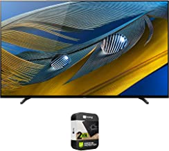 Sony XR77A80J 77-inch A80J 4K OLED Smart TV (2021 Model) Bundle with Premium 2 Year Extended Protection Plan