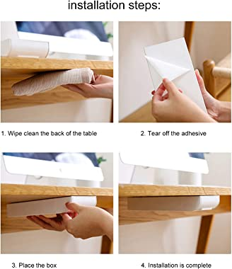 CUTULAMO Drawer Organizer, Storage Box Pulled Smoothly Wear Resistant for Tissues Scissors for Office