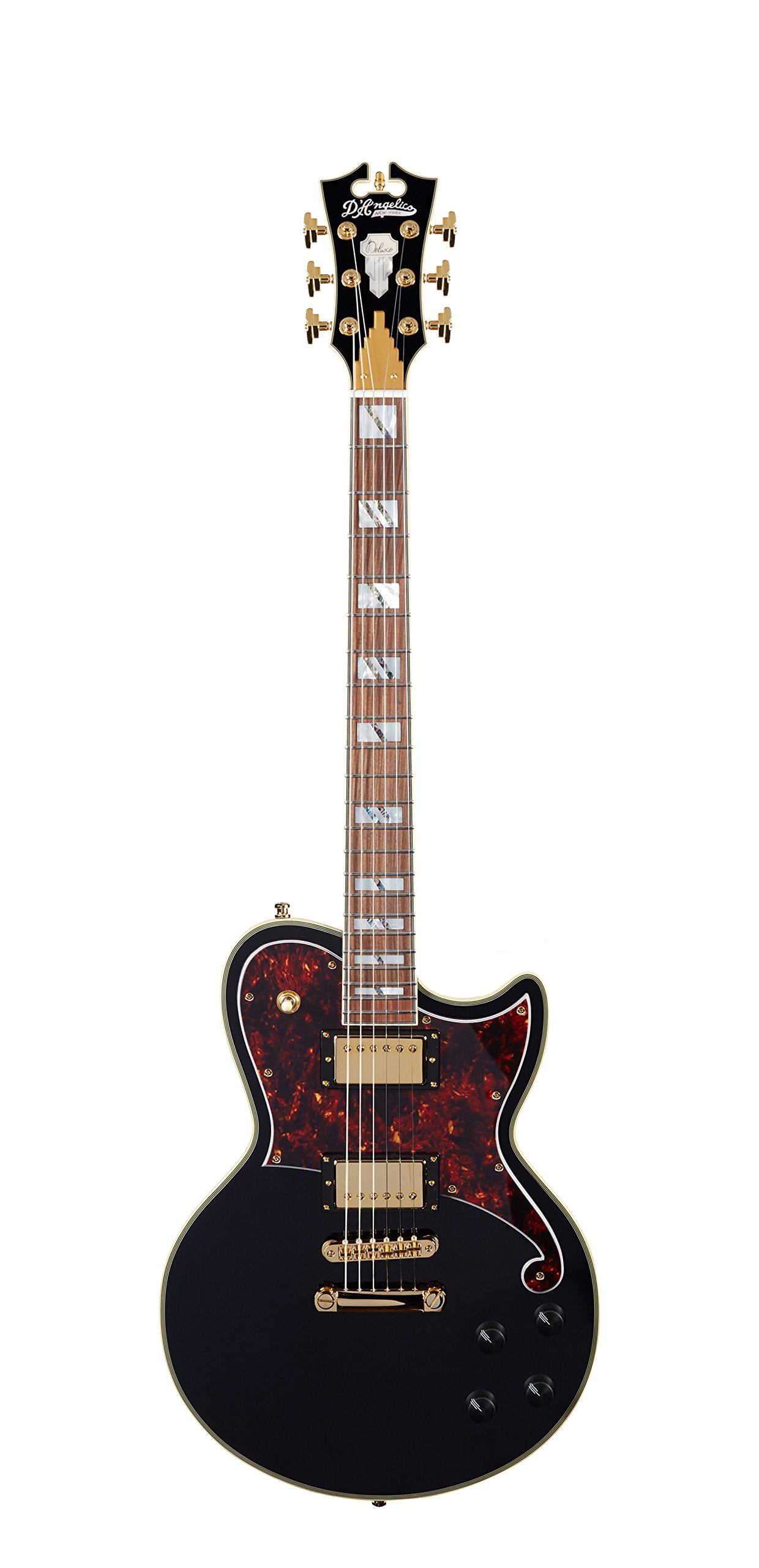 Cheap D Angelico Deluxe Atlantic Electric Guitar - Black Black Friday & Cyber Monday 2019