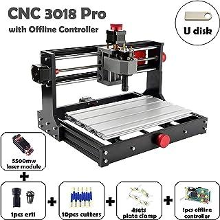 Mostics CNC 3018 Pro と 5.5-レーザーモジュール CNC 彫刻機 CNC 彫刻 CNCウッドルーター 製粉機 CNC+laser レーザー彫刻機 レーザ...