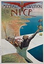 Meeting d'Aviation - Nice (artist: Brosse) France c. 1910 - Vintage Advertisement 58439 (24x36 SIGNED Print Master Art Print - Wall Decor Poster)
