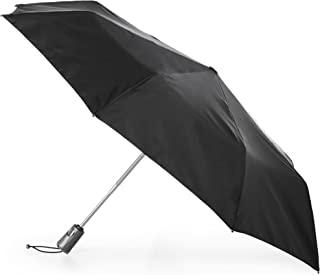 totes Titan Automatic Open Close Windproof & Water-Resistant Foldable Umbrella,   Black
