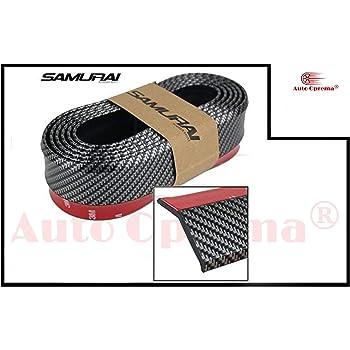 Auto Oprema Samurai Carbon Fiber Car Body Kit Bumper Lip Side Skirt Rubber Edge Decorative Protector