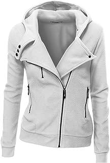 Fleece Zip-Up High Neck Jacket for Women with Plus Size