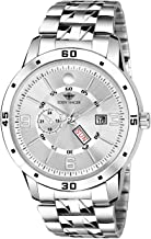 Eddy Hager White Day and Date Watch for Men EH-253-SL