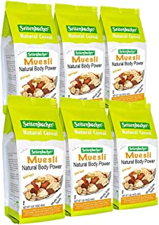 Seitenbacher Muesli Cereal #1 – Natural Body Power – Apple & Hazelnuts, 16 Oz (Pack Of 6)