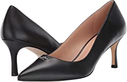 코치 올라 펌프스 - 블랙 COACH Orla COH Leather Pump,Black