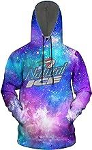 3D Printed Galaxy Fleece Hooded Sweatshirt for Mens' Natural-Light-Ice-Beer- Hoodie Sweatshirt