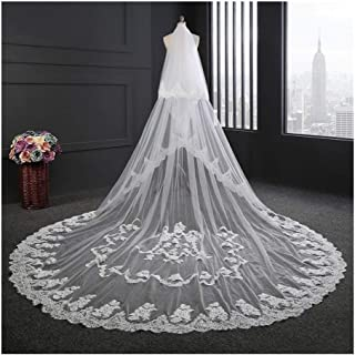 Bridal Veils Wedding Accessories Wedding Bride Veil White/Ivory Lace Edge With Comb 3.5 Meters Long 3M Width 0601 yynha (C...
