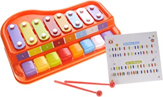 Playee 2 in 1 Xylophone for Kids, Educational Musical Toyset for Your Mini Musician, Bright Multi-Colored Keys, 8 Key Scales in Clear and Crisp Tones with Music Cards Songbook
