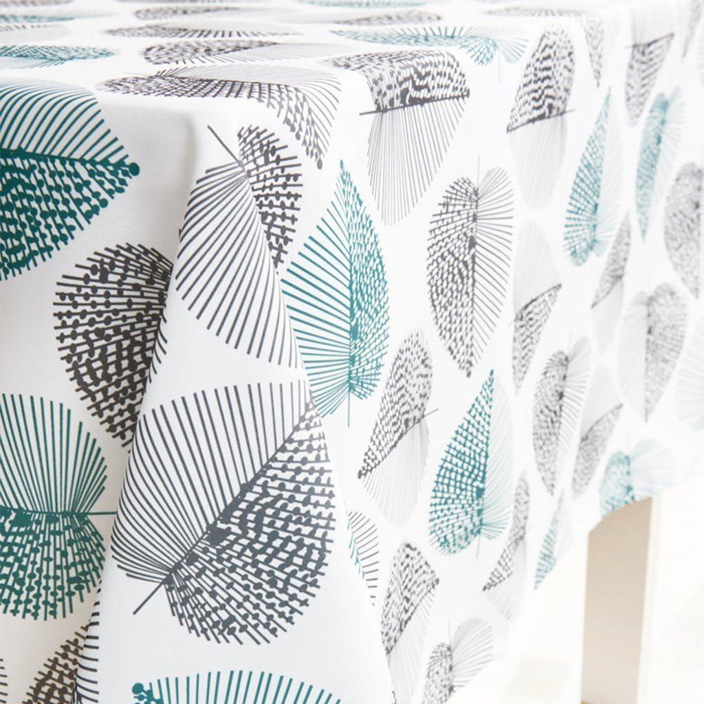 JameStyle26 - Mantel lavable, diseño de hojas y flores, varios tamaños y diseños, para la cocina o el salón, tejido, 140 x 180 cm