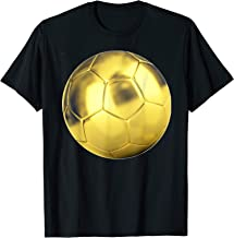 Gold Soccer Ball. Gift idea for soccer teams, players  T-Shirt