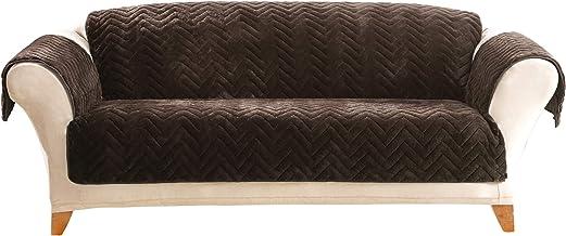 غطاء للأريكة مبطن بالفرو الصناعي بلون الشوكولاتة من شورفيت