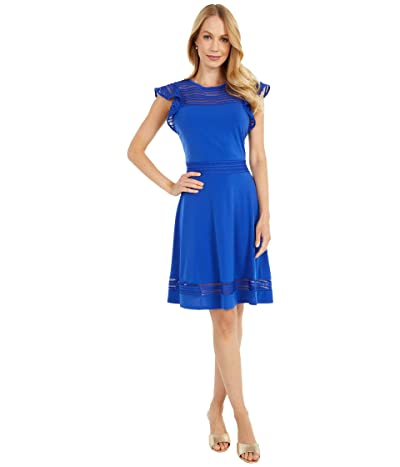 MICHAEL Michael Kors Mesh Combo Mini Dress (Royal) Women