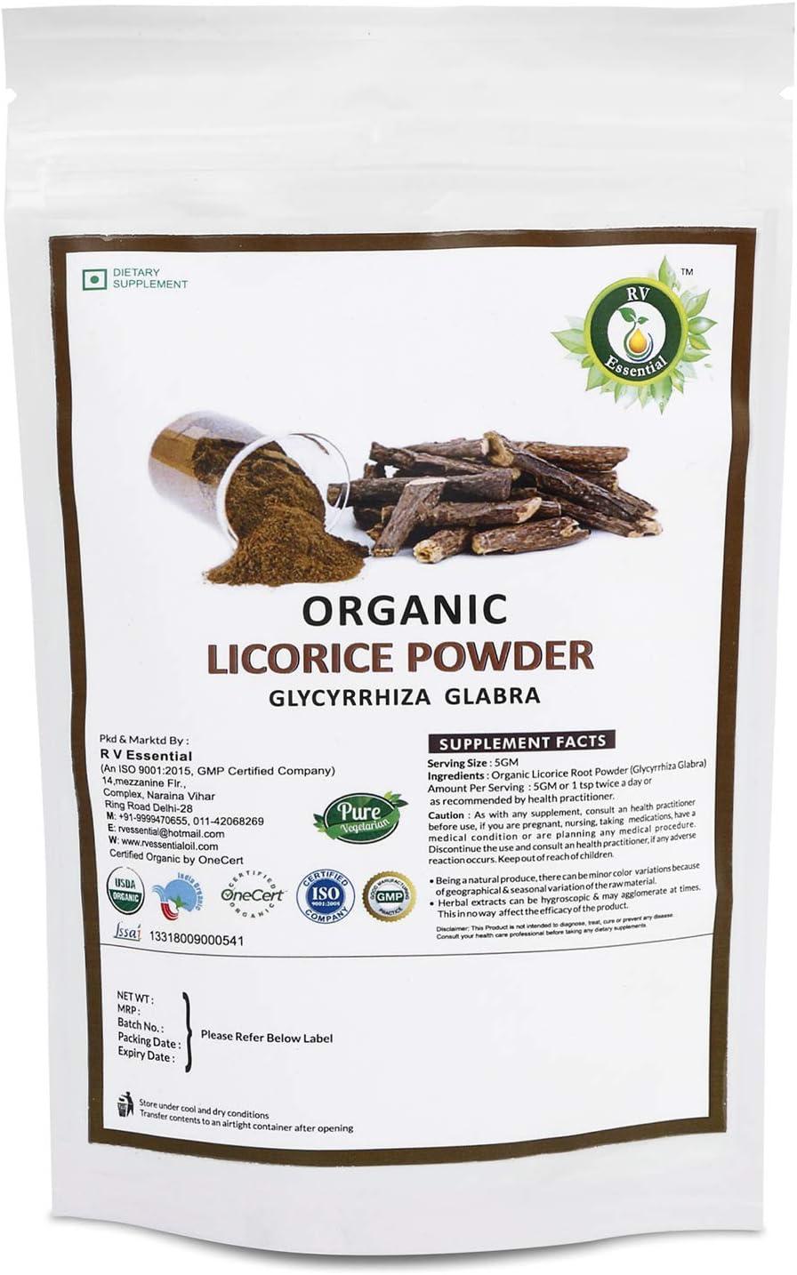 OFFicial shop R V Essential Organic Licorice 0.44lb 7.05oz Glyc Jacksonville Mall 200gm Powder