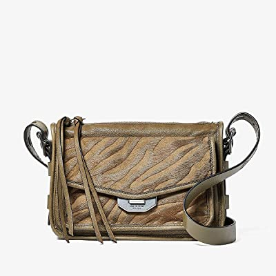 rag & bone Small Field Messenger (Taupe Zebra) Handbags