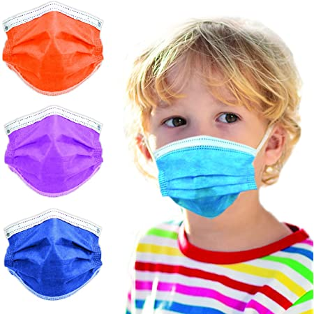 3-Ply Breathable Kids Disposable Face Mask - Made in USA - Designed for Children - Kids Size (50 pcs)