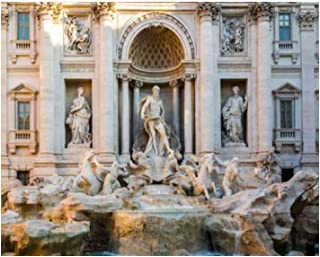 Paint By Numbers Trevi Fountain Fontana di Trevi in Rome Italy Digital Coloring Oil Painting Canvas With Inner Frame Hand-...