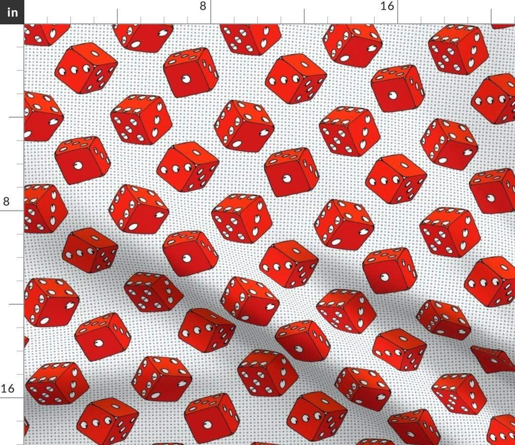 Sales for sale Spoonflower Fabric - Red Dice Popular standard Casino Cartoon Luck Retro Art Pop